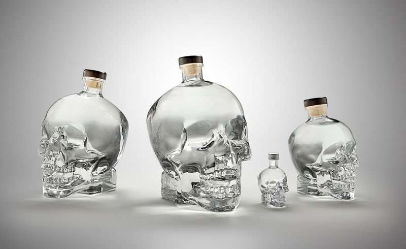 crystal head vodka flaschen