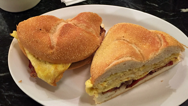 Egg-Cheese Ham-Sandwich