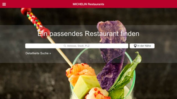 Neue Tablet-App für Michelin Restaurants