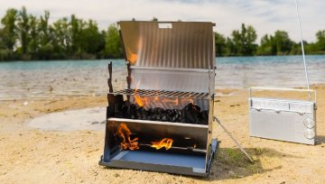 "Unterwegs grillen: On fire mit dem ""Laptop Grill"""